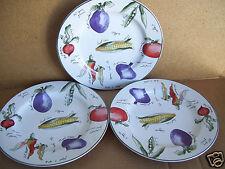 "Set of (3) Furio Garden Delight  8"" Salad  Lunch Sandwich Plates"