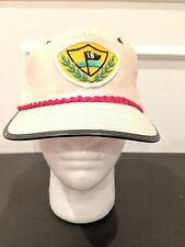 Vintage Golf Hat Light Weight Leather Strap Red Accent 18 Hole Patch Nwt