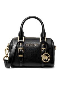 Michael Kors Bedford Legacy Extra-Small (MINI) Black Leather Duffel Crossbody