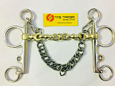 Pelham Waterford Horse Bit With  Curb Chain All size
