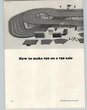 1965 PAPER AD 2 PG Revell Home Slot Car Racing Sets Americana Atlantica Auropa