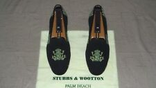 "RARE! Men's $495 Stubbs & Wootton Needlepoint ""FROGGY"" Loafers Slippers Shoes"