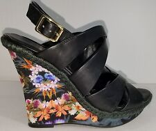 Womens Cosmopolitan Floral Wedge Heel Shoes Sz 8-1/2 M pre-owned  FREE SHIPPING!
