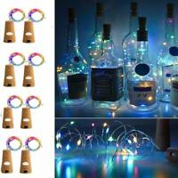 UNIQLED 8 Pack Wine Bottles Cork String Lights 15 LED Battery Operated FREE SHIP