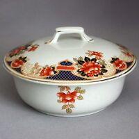 SALE! VTG Antique English GIBSON'S IMARI BUTTER DISH Bowl Staffordshire Burslem