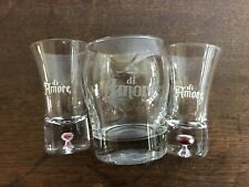 DI AMORE SHOT & LOWBALL GLASS SET Rock Old Fashioned Short Tumbler Etched Liqour