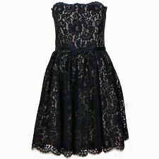ROBERT RODRIGUEZ Women's Short Black Dress Floral Sleeveless Belt Party Size 10
