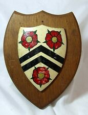 VINTAGE Hand Painted Wooden Plaque - New College OXFORD - 184g