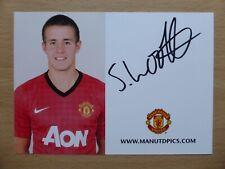 2012-13 Scott Wootten Signed Man Utd Club Card (13823)