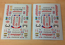2X DECAL DECALCOMANIE 1/32 LANCIA ASEPTOGYL ESSO LE MANS VIRAGES PROTO SLOT KIT