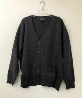 Yarn Art Women's Long Sleeve Two Pocket Knit Cardigan Sweater 1X Gray New