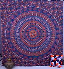 Blue Indian Mandala Tapestry Wall Hanging Hippie Dorm Tapestries Bedspread Decor