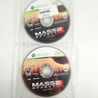 Mass Effect 2 (Microsoft Xbox 360, 2010) ~ Includes Disc 1 & 2 ~ Video Game