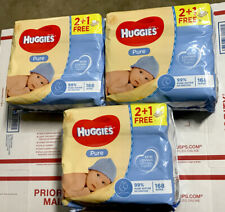 HUGGIES Refreshing Clean Baby Wipes, Disposable Soft Pack 3x 168 = 504 Sheets