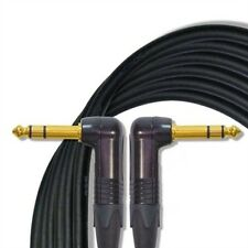 8' Mogami W2549 Microphone Black Cable w/Neutrik Right Angle, Gold Contacts