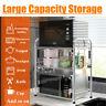 2 Layer Stainless Steel Home Kitchen Microwave Oven Rack Organizer Storage Shelf
