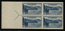 1935 Crater Lake Sc 761 FARLEY imperforate left arrow block NGAI