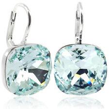 Ohrringe mit kristallen Von Swarovski Silber Light Azore Blau- nobel schmuck