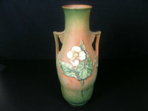 Roseville Experimental Art Pottery Arrowhead Vase Begonia by Frank Barks RARE