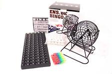 tolles BINGO Spiel Set inkl. 18 Spielkarten METALL Bingotrommel Bingo-Mühle OVP
