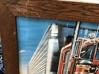 "Large Framed Print Semi Truck Big Rig Wall Decor Art 40.5""x 28.5"" See Descriptio"