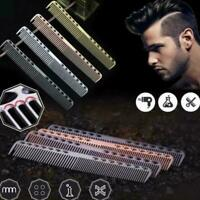 Aluminum Metal Cutting Comb-Hair Hairdressing & Barbers Salon Professional B3U9
