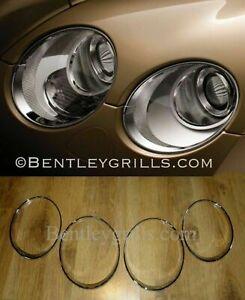 Bentley GT GTC Chrome Head Light Trims 2003-2010 Model