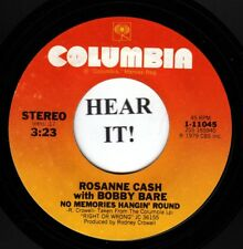 Roseanne Cash with Bobby Bare 80 CW 45-Columbia 11045-No Memories Hangin' Around