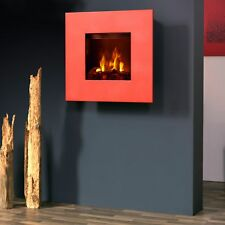 Bergamo Galileo OPTI-MYST Electric Fireplace: Red