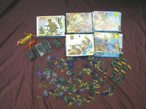 Lot of Airfix WWI & WWII toy soldiers, American, British, German and Commandos