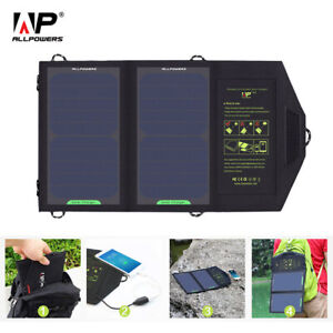 ALLPOWERS Solar Panel 10W 5V Solar Charger Portable Foldable hiking outdoor