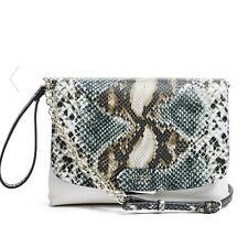 NWT Guess Camylle Crossbody Bag purse Handbag Python Print White Blue