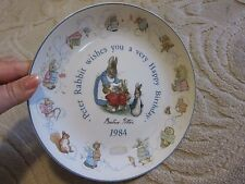 Wedgwood Beatrix Potter Peter Rabbit Happy Birthday 1984 collector plate, Warne