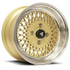 "Genuine Enkei 92 15x8"" Classic Wheel GOLD Mesh 4x100 25 Offset"