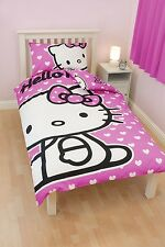 Hello Kitty Single Duvet Quilt Cover & Pillowcase Bedding Bed Set *REDUCED*