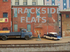 #107 HO scale background building flat  BACKSIDE #6   *FREE SHIPPING*