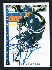 Dave McLlwain #418 signed autograph auto 1993-94 Score Hockey Trading Card