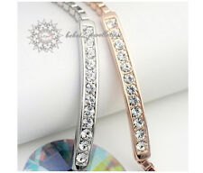 White gold/Simulated Diamond/Crystal Bracelet/Rose gold/RGB020G