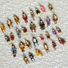60 pcs HO scale ALL Seated People sitting figures Passengers 30 difr poses #B30P