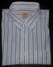 BROOKS BROTHERS MULTI COLOR STRIPED L/S FINE DRESS SHIRT. BBR5087