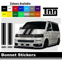 Bonnet Stripe Stickers For VW Transporter T5 T6 T4 Sticker Vinyl Decal Camper