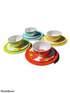 Laurie Gates 12 Piece Melamine Dinnerware Set Bright Floral BPA Free