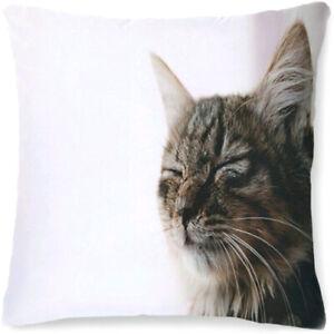 CAT SATIN CUSHION COVER Home Chair Settee Sofa Pillow Birthday Christmas Gift