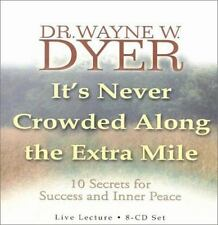 It's Never Crowded along the Extra Mile by Wayne Dyer (2002, 8-CD Set)