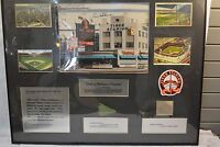 TIGER STADIUM 12 PC collage photos- dirt- grass and autograph Al Kaline 24 x 30
