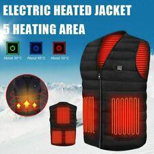 Winter Electric Heated Vest Warm Body USB Unisex Men Women Heating Coat Jacket