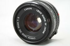 Canon New FD 50mm 1:2 Lens *As Is* #Y028f