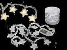 Lichterkette 10 Sterne 3,5 cm, warmweiße LED, ca. 130 cm, Batteriebetrieb