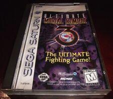 Ultimate Mortal Kombat 3  (Sega Saturn, 1996)  Complete Game in Case with Manual