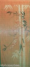 Bamboo Beaded Door Curtain- Black and White Bamboo Tree on Orange Background